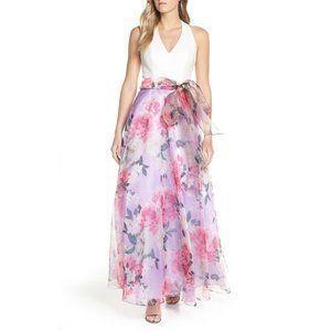 Eliza J Floral Chiffon Skirt Ballgown 2 4
